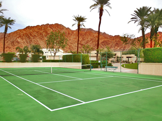 private tennis court exclusively for Enclave residents and guests